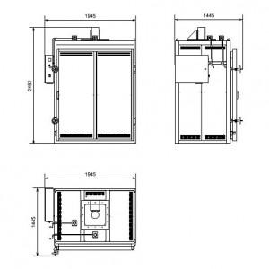 Сушильный шкаф с температурой нагрева до +200ºС – SNOL 1400/200